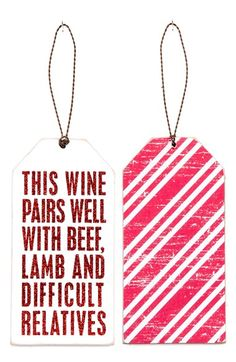 Wine Bottle Gift Tag