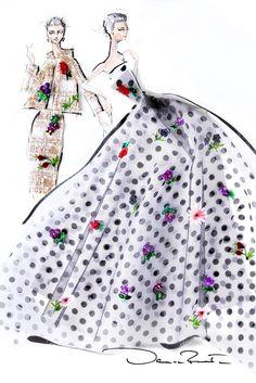 "Spring 2014 Designer Inspirations: ""Dot Calm."" — Oscar de la Renta [Courtesy Photo]"
