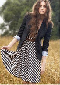Stripe Love. Excellent with belt and blazer