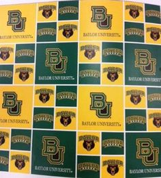 Look what's available again -- #Baylor fabric!