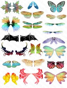 Altered Art Fairy Wings (No. 1) fairi wing, altered art fairies
