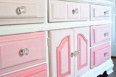 Pink painted dresser - #nursery