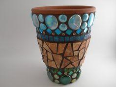 Mosaic Planter by TheMosartStudio on Etsy, $100.00
