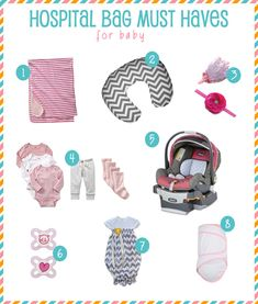 Hospital Bag Must Haves: FOR BABY : )