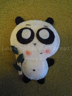 Broche Oso panda de fieltro
