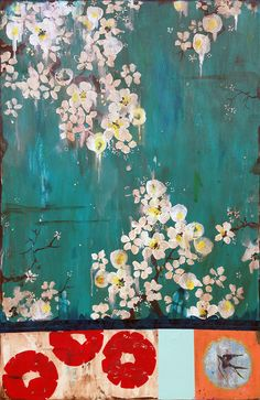 """And We Watched The Blossoms Dance Under The Midnight Moon,"" 36 x 24 (c) 2013, Kathe Fraga www.kathefraga.com"
