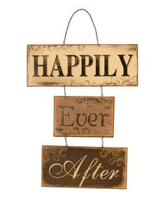 Loving this 'Happily Ever After' Wall Sign on #zulily! #zulilyfinds