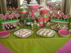 Candy Buffet » Pink Green Candy Buffet
