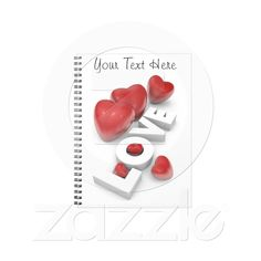 #Valentine #Notebook from Zazzle.com
