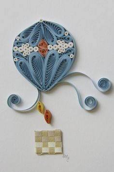 filigrana, balloon flight, pretti balloon, quill pictur, clair paper, quilling, papers, hot air balloons, paper crafts