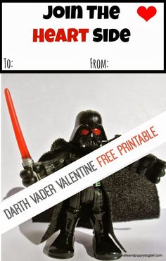 Darth Vader Valentine Free Printable