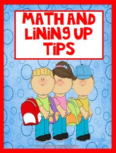 Tips to add quick math lessons when lining up your students.