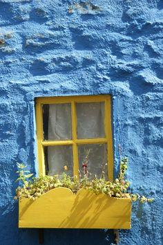 A bright window on a bright day in Kinsale, Ireland.