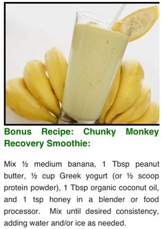 Healthy Smoothie idea - for recovering from high energy activities