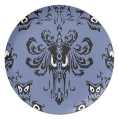 Haunted Hallway Mansion Wallpaper Plate