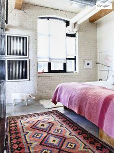 Oriental rug bedroom | art on wall