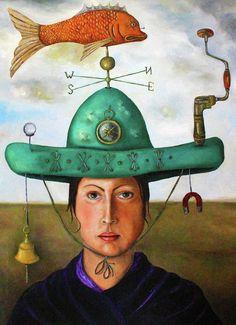Leah Saulnier   OIL      Gizmo 3 Painting