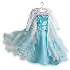 Elsa Limited Edition Costume for Girls - Frozen They need to make this for adults!! I looove Elsa's dress!!