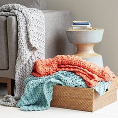 Chain Lock Throw from West Elm - I want all 3 colors