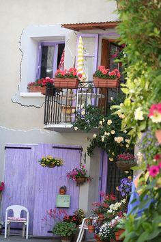 Lavender doors & windows - Mirabel-aux-Baronnies , France