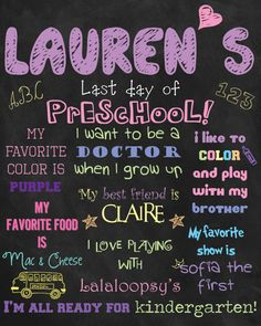 Custom Printable Last Day (or First Day) of School Board Poster. $30.00, via Etsy.