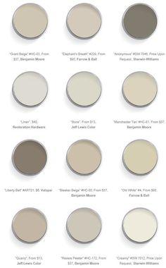 warm neutral paint colors. #color