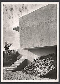 Max Cetto y Luis Barragán: Casa Berdecio, Jardines del Pedregal, México D.F., 1950