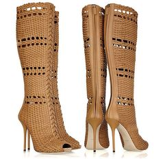 #Gucci Woven Leather Boots
