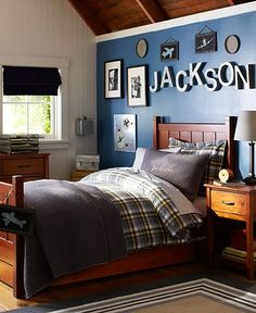 Big Boy Room Ideas On Pinterest Football Rooms Boys Football Room