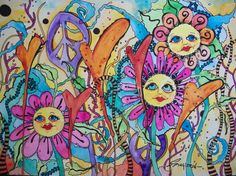 The+Psychedelic+Summer+Singleton+Hippie+Art+by+justgivemepeace,+$95.00