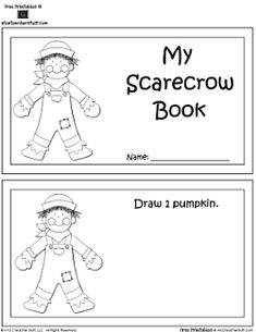 Three different math printable fall books, links to many printables on scarecrow theme