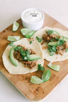 {pork tacos with homemade tortillas and lime}