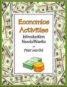NEEDS & WANTS~ Four ready-to-use economics activities including teaching suggestions and a full-sized answer key. Just print and copy! Activities include reading selection, word search, and worksheets that introduce basic concepts such as needs/wants, goods/ services, and producer/consumer. Kid-friendly definitions of each term as well as clear, easy-to-understand directions, and graduated application. Part of another product, Economics Activity COMBO Pack: 8 NO PREP Printables