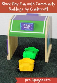 Block Play Fun with Community Buildings by Guidecraft via www.pre-kpages.com