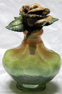 objet of beauty....Antique Rose Perfume Bottle
