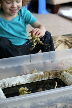 Simple Small Worlds: Dinosaurs and Sticky Mud from Fun at Home with Kids