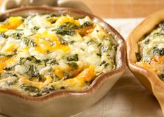 Crustless spinach quiche- no cream- uses cottage cheese