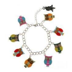 Punky Pins - Owl Charm Bracelet