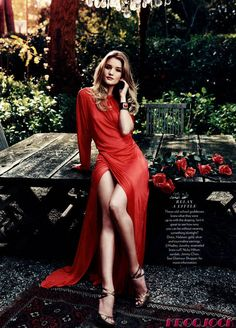 long dresses, rosie huntington whiteley, fashion dresses, the color red, dress fashion, the dress, red roses, gown, woman style