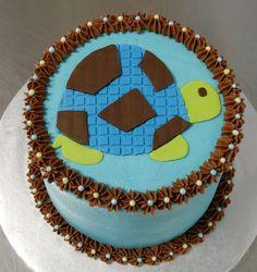 Turtle Baby Shower Cake by cjmjcrlm (Rebecca), via Flickr