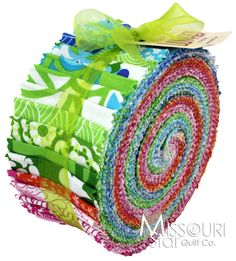 Blues / greens for Mom - Lili-fied Jelly Roll from Missouri Star Quilt Co ('currently unavailable' as of 3-14-14 ...)