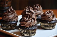 Rich Nutella Buttercream. Smooth and velvety, and very, very chocolaty.