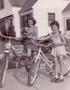 we were always outside riding bikes
