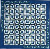 Summertime Blues Quilt Kit from Quiltmaker: great piecing with applique accents