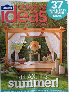 Deck/pergola from Lowes Creative Ideas