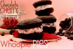 Cherry Chocolate Chunk Whoopie Pies: Recipe