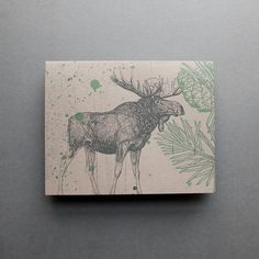 moos card, moose, greeting cards, note cards, design