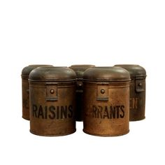 Antique English Tole Canisters - $475...these would be awesome above those kitchen cabinets...can't believe the price!