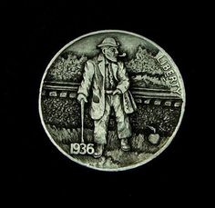 "Hobo Nickel ""That's A Mighty Fine Road Apple"" by Howard Thomas   eBay"