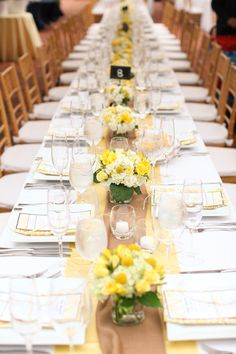 yellow tablescape.
